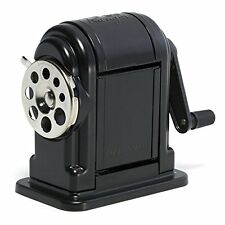 Manual Pencil Sharpener X Acto Table Wall Desk Mount Old School Hand Desktop Bla