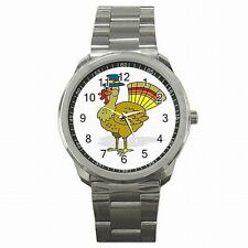 Thanksiving Turkey Holiday Stainless Steel Watch