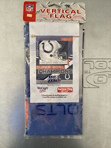 NFL INDIANAPOLIS COLTS VINTAGE NEW IN PACKAGE SUPER BOWL CHAMPIONS FLAG PEYTON
