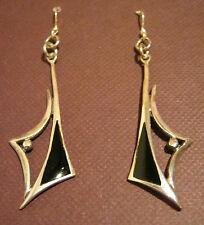 Ohrhänger,925er Silber mit Edelstein: Onyx,Länge 6 cm,Breite 1,5 cm