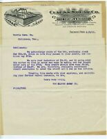 GRAPHIC 1910 LETTERHEAD FREMONT OHIO CLAUSS SHEAR CO. FINE SHEARS & SCISSORS