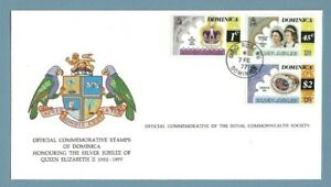 1977 DOMINICA SILVER JUBILEE ROYAL COMMONWEALTH SOCIETY FDC