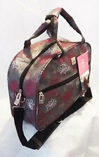 Retro style~Grey pink floral design waterproof travel/weekend bag 12LTR-NEW