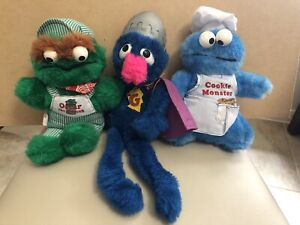 Vintage Knickerbocker Sesame Street Cookie Monster Oscar Grover