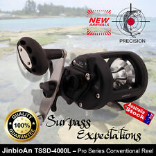 STAR LEVER DRAG PRO SPEED CONVENTIONAL OFFSET SALTWATER FISHING REEL TROLLING
