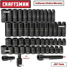 Craftsman 51 pc 1/2 in Drive Impact Socket Set NEW  55 52 48 95 78