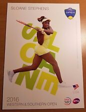 SLOANE STEPHENS 5X7 2016 WESTERN & SOUTHERN ATP TENNIS TOURNAMENT COLLECTOR CARD