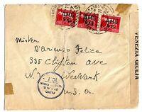 Venezia Giulia -  A.M.G. V.G -  viaggiata per gli Stati Uniti.- 25-7-1947
