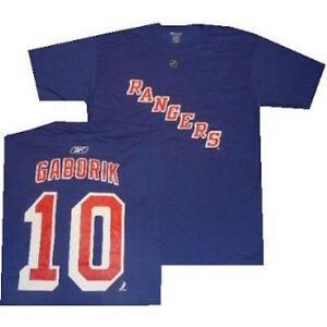 New York Rangers Marian Gaborik Reebok Blue Shirt Closeout
