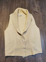 CABI knit sweater vest sleeveless cardigan one button  sz medium