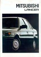 Mitsubishi Lancer Prospekt 9/88 brochure 1988 Autoprospekt Broschüre broschyr