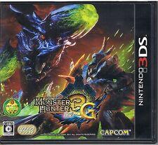 Used Monster Hunter 3G (Nintendo 3DS, 2011) Japanese Version CAPCOM