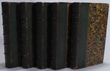 VOLTAIRE -- Oeuvres -- 1844 -- SMALL LEATHER SET in French FINE BINDINGS
