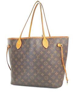 Authentic LOUIS VUITTON Neverfull MM Monogram Tote Bag Purse #39081
