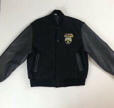 Vtg 90s MTV Road Rules Wool Blend & Leather Jacket Sz XL Rule the Road With Gum
