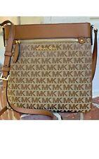SALE SALE Authentic Michael Kors Connie  Monogram Large NS Crossbody Beige