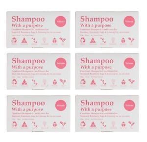 6 x Shampoo with a Purpose Bar Volume 135g Shampoo & Conditioner