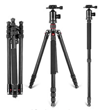 66 inches Portable Carbon Fiber Camera Tripod Monopod With 360 Degree Ball Head