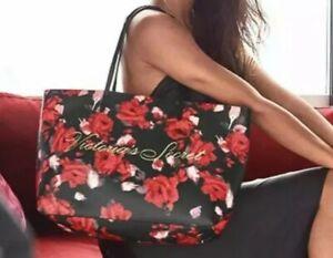 Victoria's Secret Red Black Floral Rose Tote Shoulder Bag Black Friday 2019 NWT