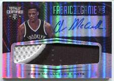 2015-16 Totally Certified Fabric Chris McCullough Rookie Patch Auto Card RC /25