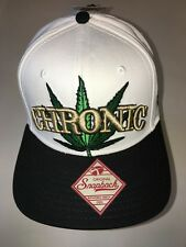 "Chronic Leaf Weed Marijuana Ganja Flat Bill Snapback High Cap White Black ""SALE"""