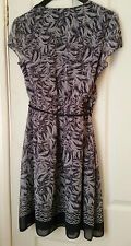 DOROTHY PERKINS Billie & Blossom Belted Cross Front Summer Dress Size 10 BNWT
