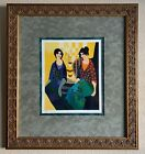 """Itzchak Tarkay Signed Serigraph """"Good Friends"""" Paperwork Included <br/> Low numbered 38/300! TV's Dr. Lori Ph.D. Appraised!"""