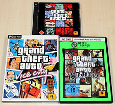 3 PC SPIELE SAMMLUNG - GTA GRAND THEFT III AUTO VICE CITY & SAN ANDREAS trilogy