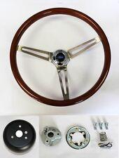 "Ford Bronco Ranchero F100 Wood Steering Wheel 15"" High Gloss Finish"