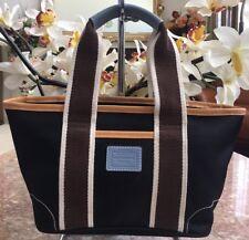Coach M3K-6260 Hampton Black Nylon Leather Trim Tote Small Shopper Bag Purse EUC
