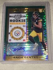 2019 CONTENDERS OPTIC ZACH GENTRY RC /27 GREEN PULSAR PITTSBURGH STEELERS