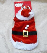 Santa Claus Costume Fits Most Small Pets Pet Holiday Collection New On Card *