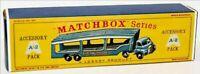 Matchbox Lesney A-2 BEDFORD CAR TRANSPORTER LIGHT empty Repro D style Box