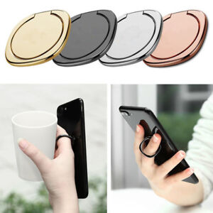 Universal 360° Magnetic Finger Ring Stand Phone Holder For iPhone Samsung Tablet
