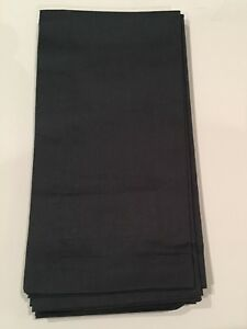 Williams Sonoma Dinner Napkins Set of 4 Blue OR Light Gray Cotton NEW 20 x 20
