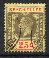 Seychelles 25 Cent Stamp c1921-32 Used (3272)