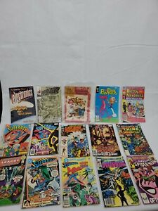 Bundle of 15 1970s-1980s Marvel DC Pink Panther Spiderman +MORE Comic Books
