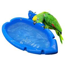 New listing Bird Baths Tub Bowl Basin Parrot Cage Hanging Bathing Box Bird Birdbath T A&