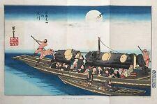 1856 Matthew Perry Japan Naval Expedition Large Color Lithograph Tokugawa Shogun