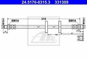 Flexible de frein AUDI 100 (44, 44Q, C3) 100 Avant (44, 44Q, C3) 4000 (81, 85, B