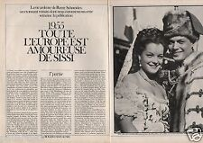 Coupure de presse Clipping 1982 Romy Schneider & Sissi  (6 pages)