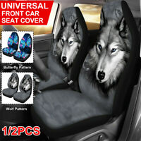 Wolf & Butterfly Universal Car Seat Covers Front Seat Protector Animal  z