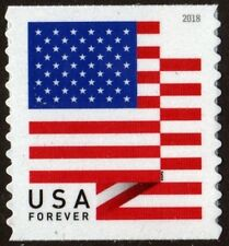 2018 50c American Flag, Red, White & Blue, Coil Single Scott 5261 Mint F/VF NH