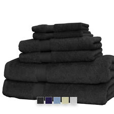 Luxury 6PC Solid Comfortable and Soft Bath Towel Set 100% Combed Cotton