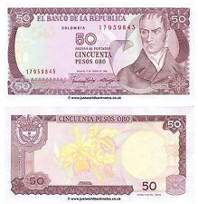 COLOMBIE 50 pesos oro 1986 P-425b billets UNC