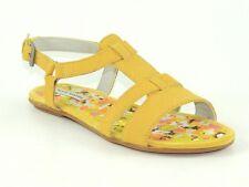 Hush Puppies Women's Sagitar T-Strap Sandals Yellow Suede Size 6 (B, M)