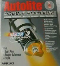 Spark Plug-Double Platinum Autolite APP103 Box Of (4) Spark Plugs