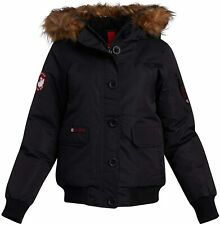 CANADA WEATHER GEAR Women's Winter Coat - Bomber Parka Jacket with Natural Fur T