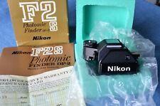 c1975, MINT IN BOX w/PAPERS Nikon DP2 Photomic Finder f/ F2S -Chrome or BLK- VTG