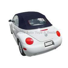 VW Beetle 2003-2010 Convertible Top in Blue Stayfast with Glass Window